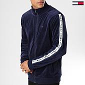 /achat-vestes/tommy-hilfiger-jeans-veste-velours-zippee-avec-bandes-dm0dm05171-bleu-marine-153634.html