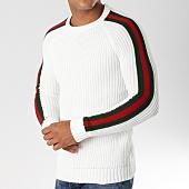 /achat-pulls/ikao-pull-avec-bandes-f196-ecru-vert-rouge-153701.html