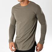 /achat-t-shirts-longs-oversize/ikao-tee-shirt-manches-longues-oversize-f241-vert-kaki-153768.html