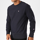 /achat-sweats-col-rond-crewneck/champion-sweat-crewneck-212572-bleu-marine-153976.html