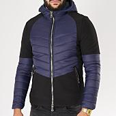 /achat-vestes/classic-series-veste-zippee-capuche-mkb60-noir-bleu-marine-153882.html