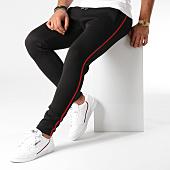 /achat-pantalons-carreaux/lbo-pantalon-avec-bandes-511-noir-rouge-154003.html