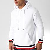 /achat-sweats-capuche/lbo-sweat-capuche-438-blanc-bleu-marine-rouge-154005.html