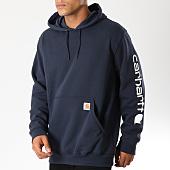 /achat-sweats-capuche/carhartt-sweat-capuche-k288-bleu-marine-blanc-154118.html