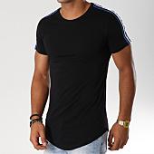 /achat-t-shirts-longs-oversize/john-h-tee-shirt-oversize-avec-bandes-612-noir-bleu-154175.html