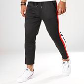 /achat-pantalons-carreaux/aarhon-pantalon-avec-bandes-18-239-noir-blanc-rouge-154457.html