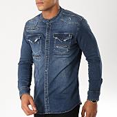 /achat-chemises-manches-longues/classic-series-chemise-manches-longues-col-mao-6686-bleu-denim-154234.html
