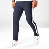 /achat-pantalons-carreaux/classic-series-pantalon-carreaux-avec-bandes-11-bleu-marine-blanc-154345.html
