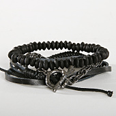 /achat-bracelets/icon-brand-lot-de-3-bracelets-wrapped-up-comb-noir-154306.html