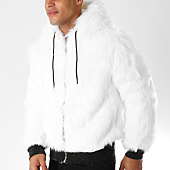 /achat-vestes/john-h-veste-zippee-capuche-fourrure-318-blanc-154257.html