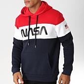 /achat-sweats-capuche/nasa-sweat-capuche-worm-logo-bleu-marine-blanc-rouge-154343.html