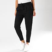 /achat-pantalons-carreaux/only-pantalon-femme-avec-bandes-velours-poptrash-noir-154427.html