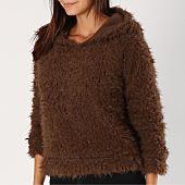 /achat-sweats-capuche/only-sweat-capuche-fourrure-femme-fiona-marron-154436.html