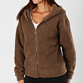 /achat-vestes/only-veste-zippee-capuche-fourrure-femme-karen-marron-154442.html