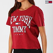 /achat-t-shirts/tommy-hilfiger-jeans-tee-shirt-femme-boxy-new-york-5285-bordeaux-154450.html