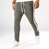 /achat-pantalons-joggings/uniplay-pantalon-jogging-avec-bandes-3265-vert-kaki-154432.html