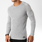 /achat-pulls/paname-brothers-pull-105-gris-clair-chine-154548.html