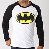 /achat-t-shirts-manches-longues/batman-tee-shirt-manches-longues-raglan-classic-logo-blanc-noir-154772.html
