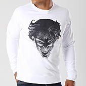 /achat-sweats-col-rond-crewneck/batman-sweat-crewneck-joker-blanc-154810.html