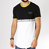 /achat-t-shirts-longs-oversize/gianni-kavanagh-tee-shirt-oversize-bandes-brodees-ribbon-blanc-noir-jaune-154766.html
