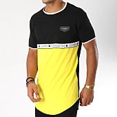 /achat-t-shirts-longs-oversize/gianni-kavanagh-tee-shirt-oversize-avec-bande-ribbon-noir-jaune-154769.html