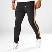 /achat-pantalons-joggings/project-x-pantalon-jogging-a-carreaux-avec-bandes-88184434-noir-camel-154881.html