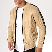 /achat-vestes/aarhon-veste-zippee-bandes-brodees-suedine-av06-beige-noir-155191.html