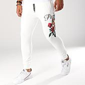 /achat-pantalons-joggings/john-h-pantalon-jogging-241-blanc-floral-155087.html
