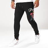 /achat-pantalons-joggings/john-h-pantalon-jogging-241-noir-floral-155125.html