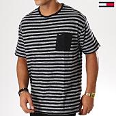 /achat-t-shirts-poche/tommy-hilfiger-jeans-tee-shirt-poche-heather-stripe-5094-noir-gris-155165.html