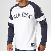 /achat-t-shirts-manches-longues/majestic-athletic-tee-shirt-manches-longues-eldon-mlb-new-york-yankees-blanc-bleu-marine-155223.html