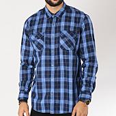 /achat-chemises-manches-longues/edc-by-esprit-chemise-manches-longues-088cc2f002-bleu-marine-bleu-clair-155364.html