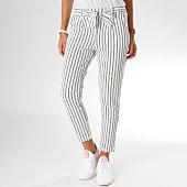 /achat-pantalons-carreaux/girls-only-pantalon-raye-femme-344r-blanc-noir-155382.html