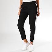 /achat-pantalons-carreaux/girls-only-pantalon-femme-avec-bandes-h278nb-noir-blanc-155455.html