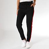 /achat-pantalons-carreaux/girls-only-pantalon-femme-avec-bandes-2551-noir-rouge-155549.html