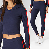 /achat-ensembles-survetement/girls-only-ensemble-de-survetement-femme-bandes-brodees-j28158-bleu-marine-rouge-155555.html