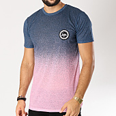 /achat-t-shirts/hype-tee-shirt-speckle-fade-bleu-marine-degrade-rose-155474.html