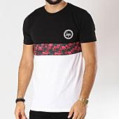 /achat-t-shirts/hype-tee-shirt-centre-rose-noir-floral-blanc-155485.html