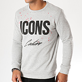 /achat-sweats-col-rond-crewneck/vip-clothing-sweat-crewneck-2102-gris-chine-155559.html