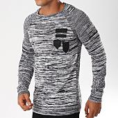 /achat-pulls/john-h-pull-avec-patchs-3182-noir-gris-chine-155692.html