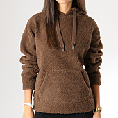 /achat-sweats-capuche/only-sweat-capuche-femme-fourrure-karen-marron-155768.html
