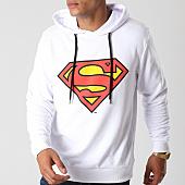 /achat-sweats-capuche/superman-sweat-capuche-classic-logo-blanc-155675.html