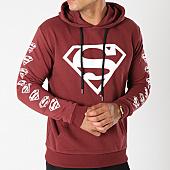 /achat-sweats-capuche/superman-sweat-capuche-logos-bordeaux-155679.html