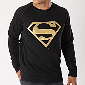 /achat-sweats-col-rond-crewneck/superman-sweat-crewneck-gold-logo-noir-155680.html