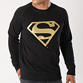 /achat-sweats-col-rond-crewneck/superman-sweat-crewneck-gold-logo-noir-155680.html
