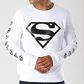 /achat-sweats-col-rond-crewneck/superman-sweat-crewneck-logos-blanc-155681.html