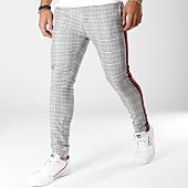 /achat-pantalons-carreaux/classic-series-pantalon-carreaux-avec-bandes-p18036-ecru-noir-rouge-155866.html
