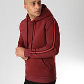 /achat-sweats-capuche/lbo-sweat-capuche-avec-bandes-538-bordeaux-155898.html