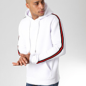 /achat-sweats-capuche/lbo-sweat-capuche-avec-bandes-540-blanc-155900.html