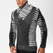 /achat-pulls/john-h-pull-col-amplified-5030-gris-anthracite-chine-155816.html